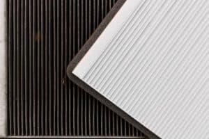 old vs new cabin air filter comparison