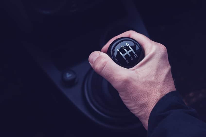 Image of a stick shift interior