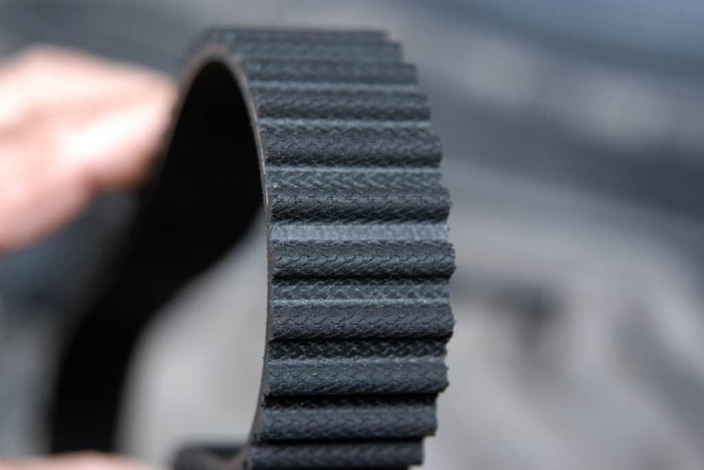 Timing belt close-up