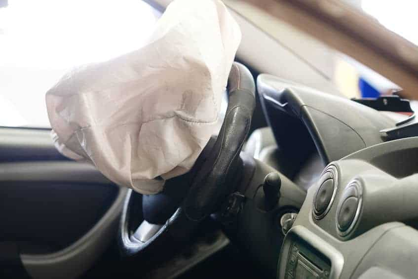 Airbag Deployed inside the car